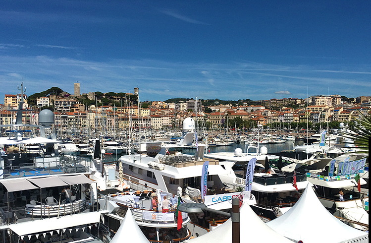 Boats docked in Cannes France