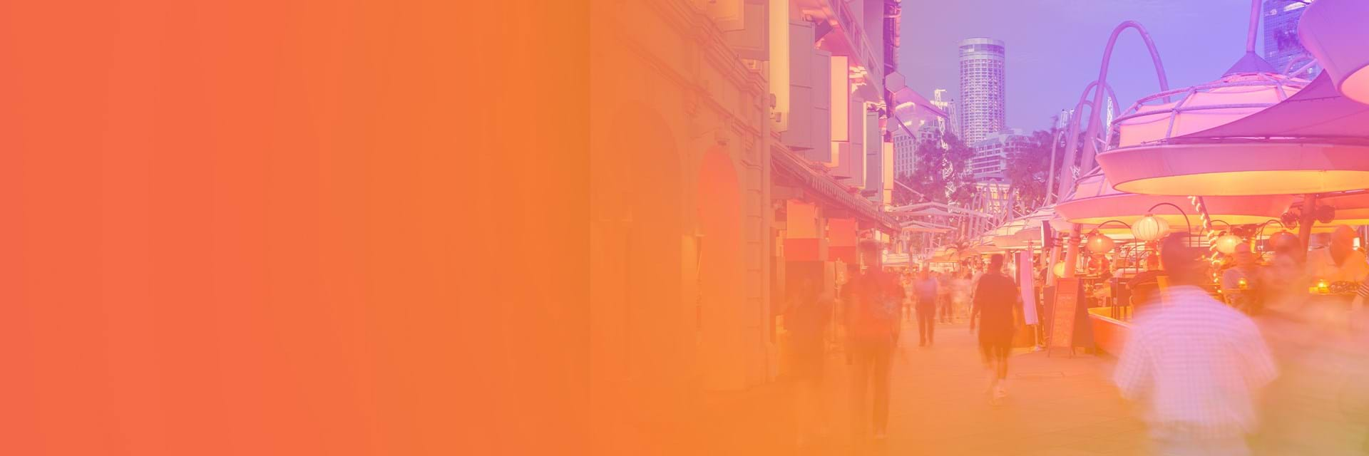 People walking through city - brands in motion report 2021